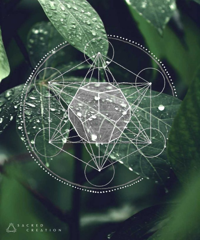 Metatron Cube Dodecahedron Art Wallpaper