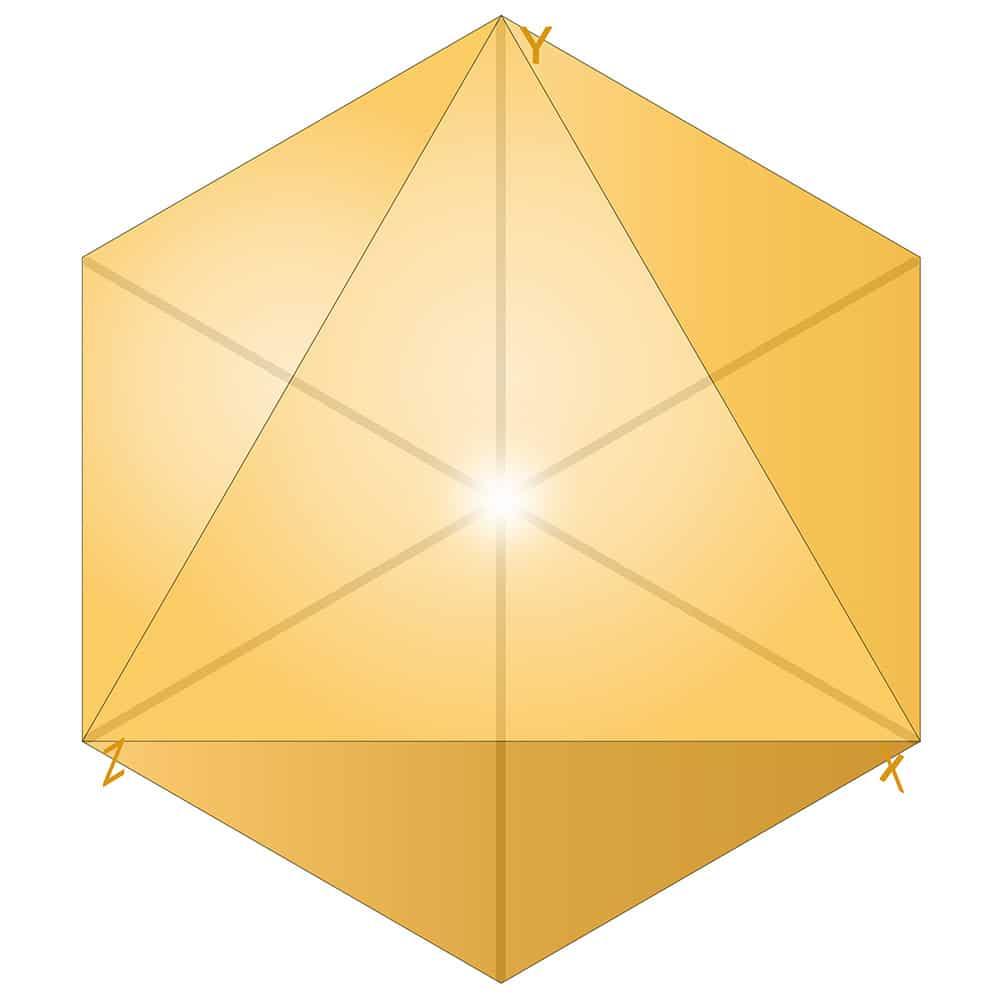 Consciousness inside Octahedron