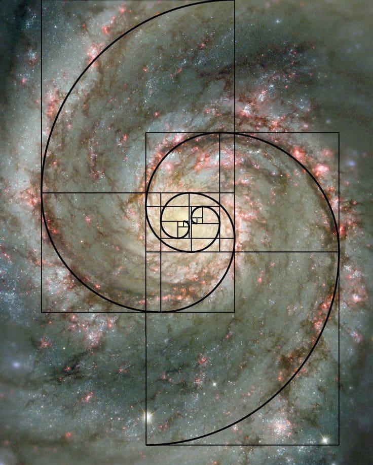 Galaxy Golden Ratio Spiral