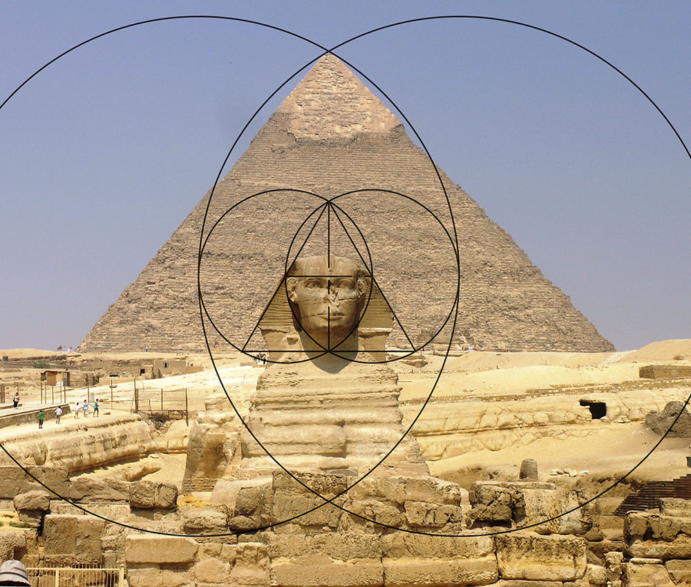 Vesica Piscis Pyramid of Giza and Sphinx