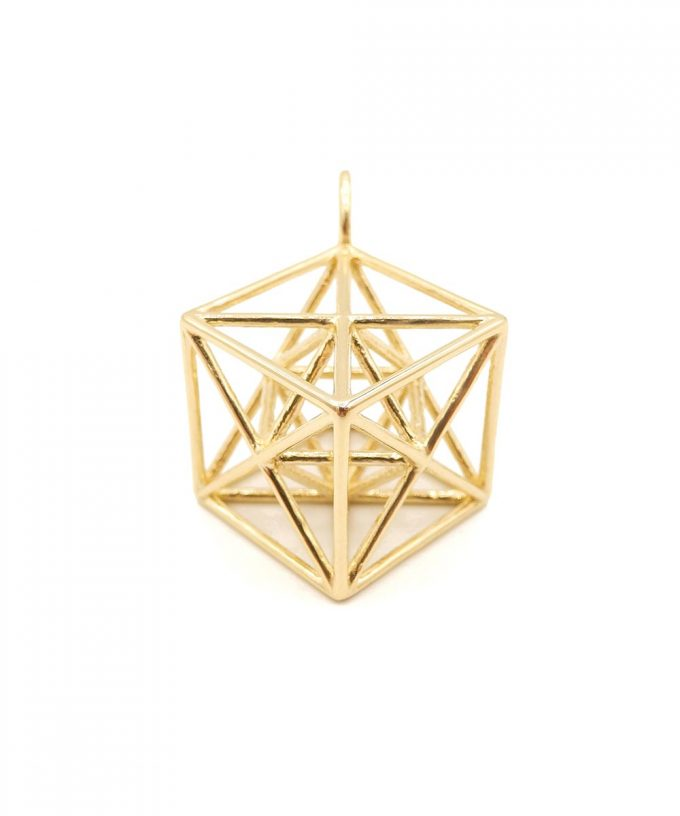 Metatron Cube 14K Gold