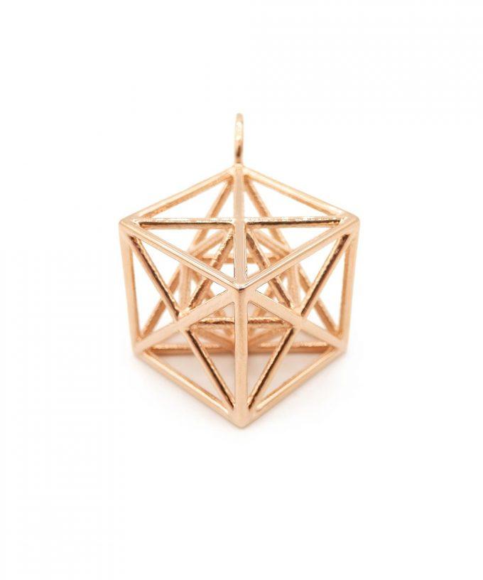 Metatron Cube 14K Rose Gold