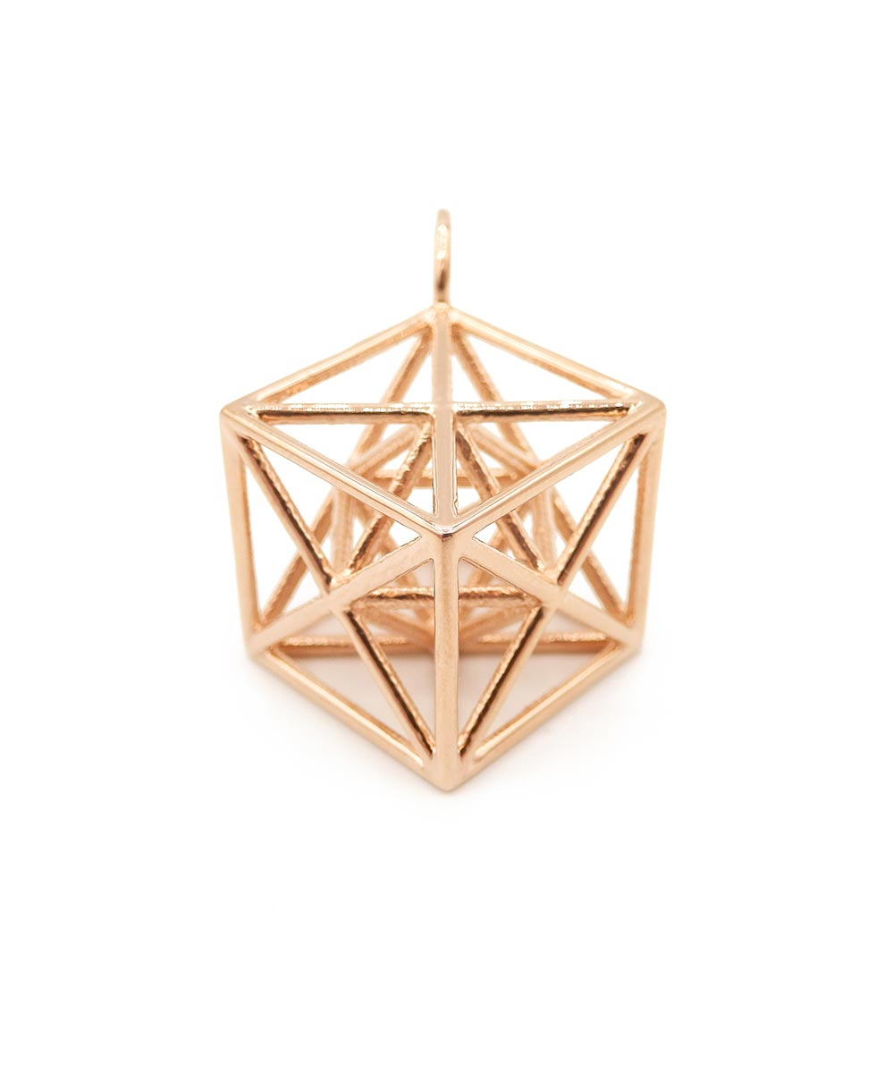 Metatron's Cube Rose Gold