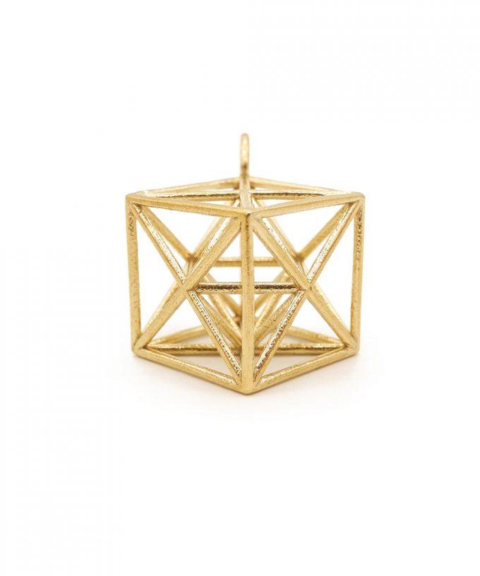 Metatron Cube Brass