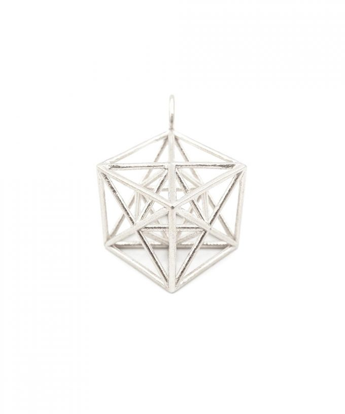 Metatron Cube Sterling Silver