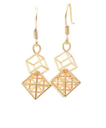 Metatron Cube Earrings - Long
