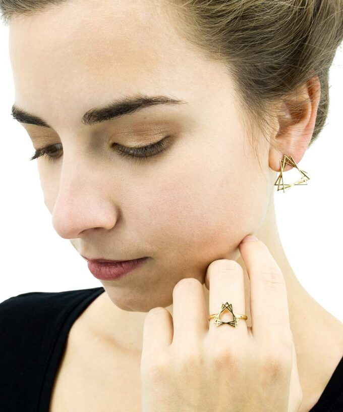 Sacred Creation Ring + Stud Earrings