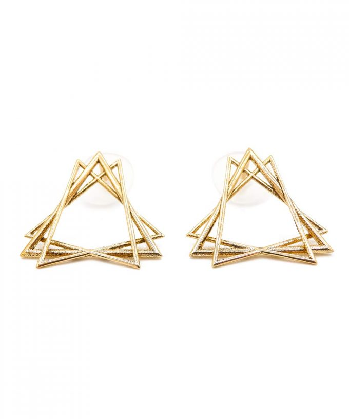 Sacred Creation Stud Earrings Brass