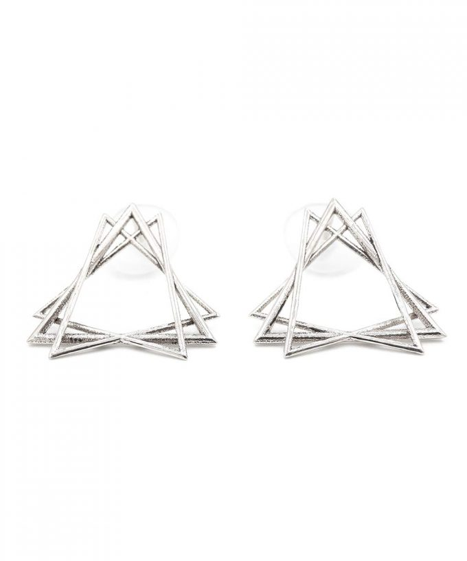 Sacred Creation Stud Earrings Silver