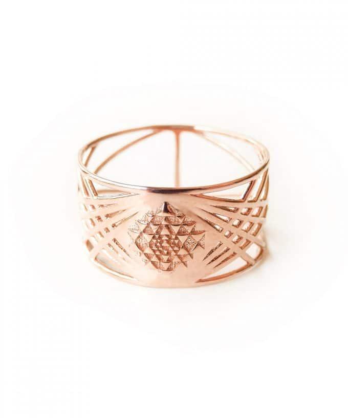 Sri Yantra Ring Rose Gold