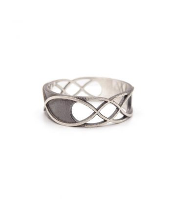 Double Infinity Ring - Sterling Silver
