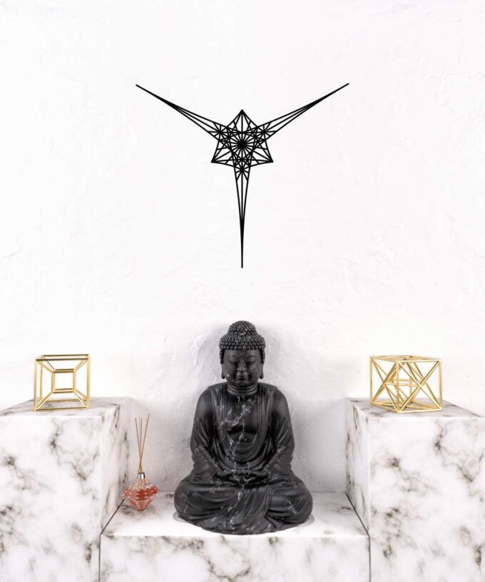 Angelic Star Wall Decal - Black