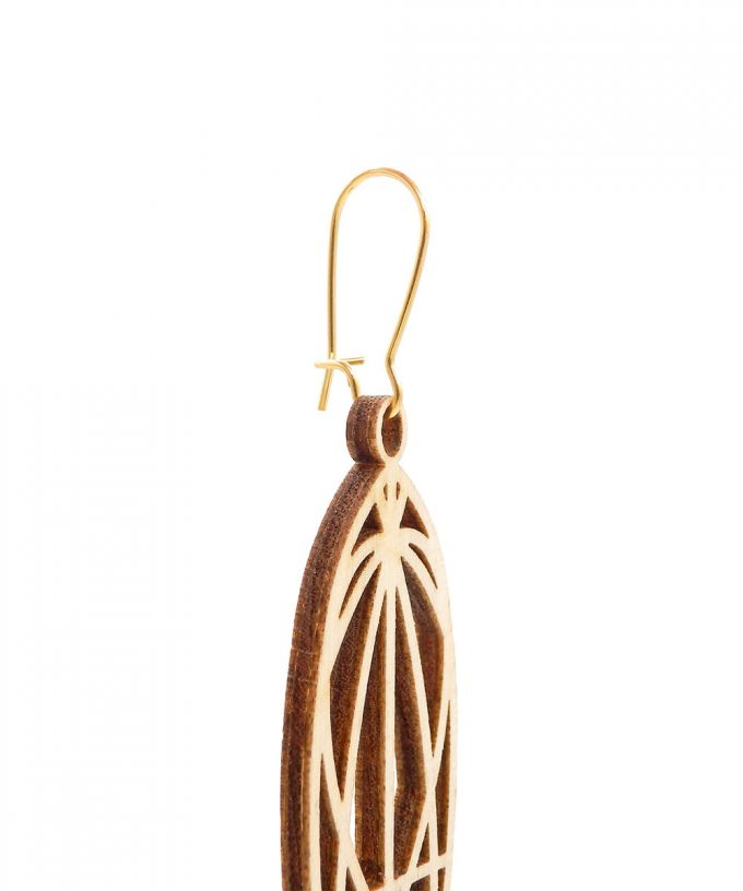 Mary Magdalene Wooden Earrings