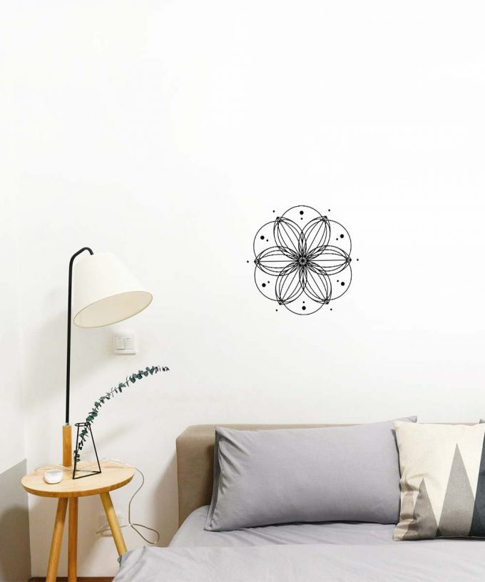 Sacred Flower Wall Decal