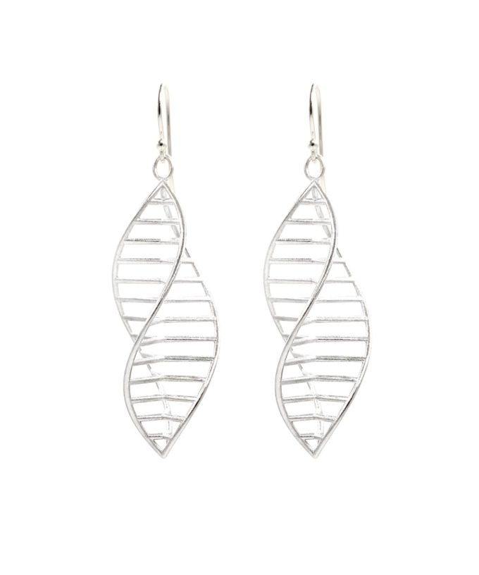 Triple DNA Earrings Sterling Silver