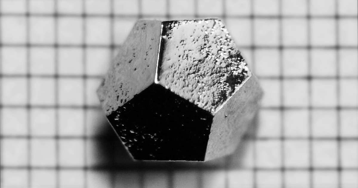 Ho-Mg-Zn Quasicrystal - Dodecahedron