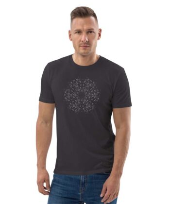 Mary Magdalene Grid Unisex T-shirt - Anthracite
