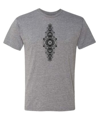 Metatrons Chakra Grid Unisex T-shirt gray