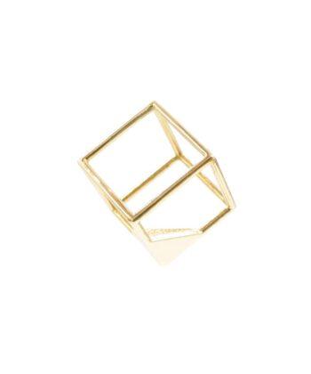 Cube Pendant - Brass
