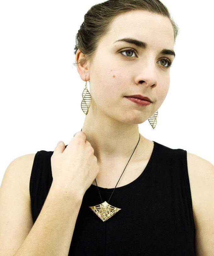 Atlantean-Priestess-Pendant-Gold-Plated-Brass