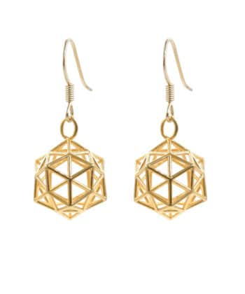 Conscious Crystal Earrings - Gold Plated Brass