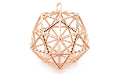 Rose Gold-Plated Brass Pendant